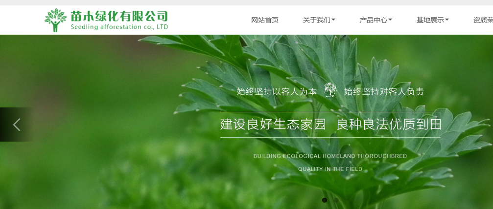 绿化花木果苗自适应宽屏设计网站模板无后门